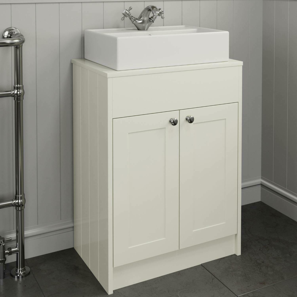 Details About 600 Cream Traditional Vanity Unit Countertop