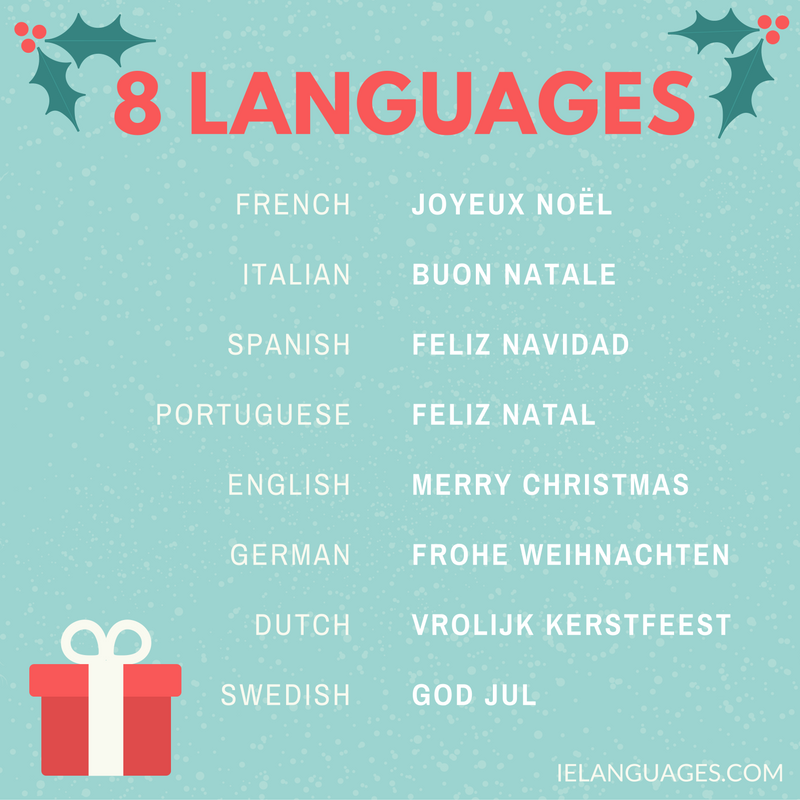 Comparative Vocabulary Lists Learn Several Languages Together Language Christmas Reading Merry Christmas German