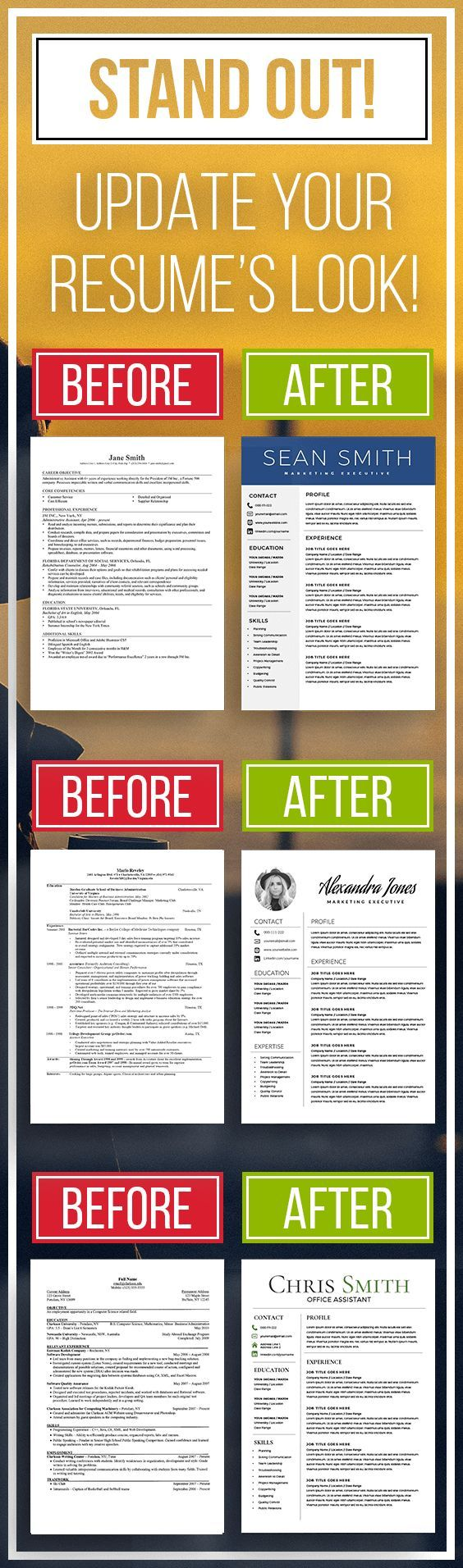 Top Selling Resume Templates - STAND OUT! | Resumes | Pinterest ...