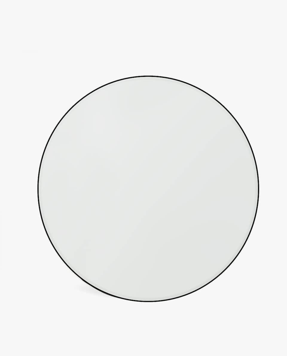 Round Mirror With Black Frame Black Round Mirror Round Mirrors