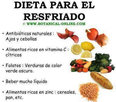 Alimentos para el resfriado