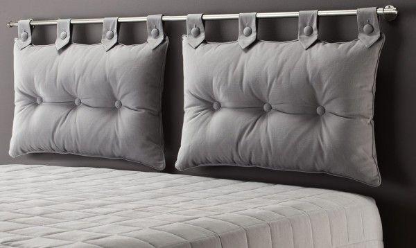 coussin pour tete de lit schlafzimmer