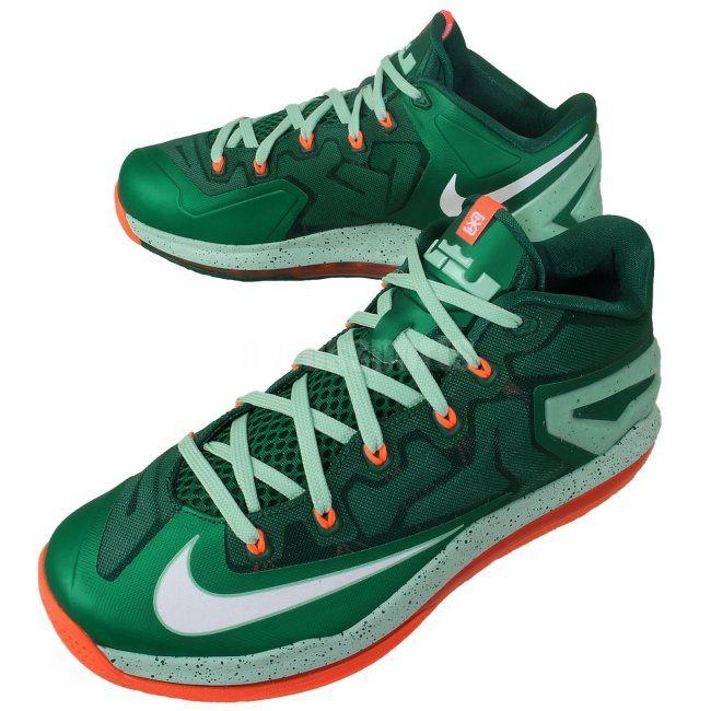 0d9668f9e3ec Nike LeBron 11 Low – Mystic Green   Medium Mint-Hyper Crimson