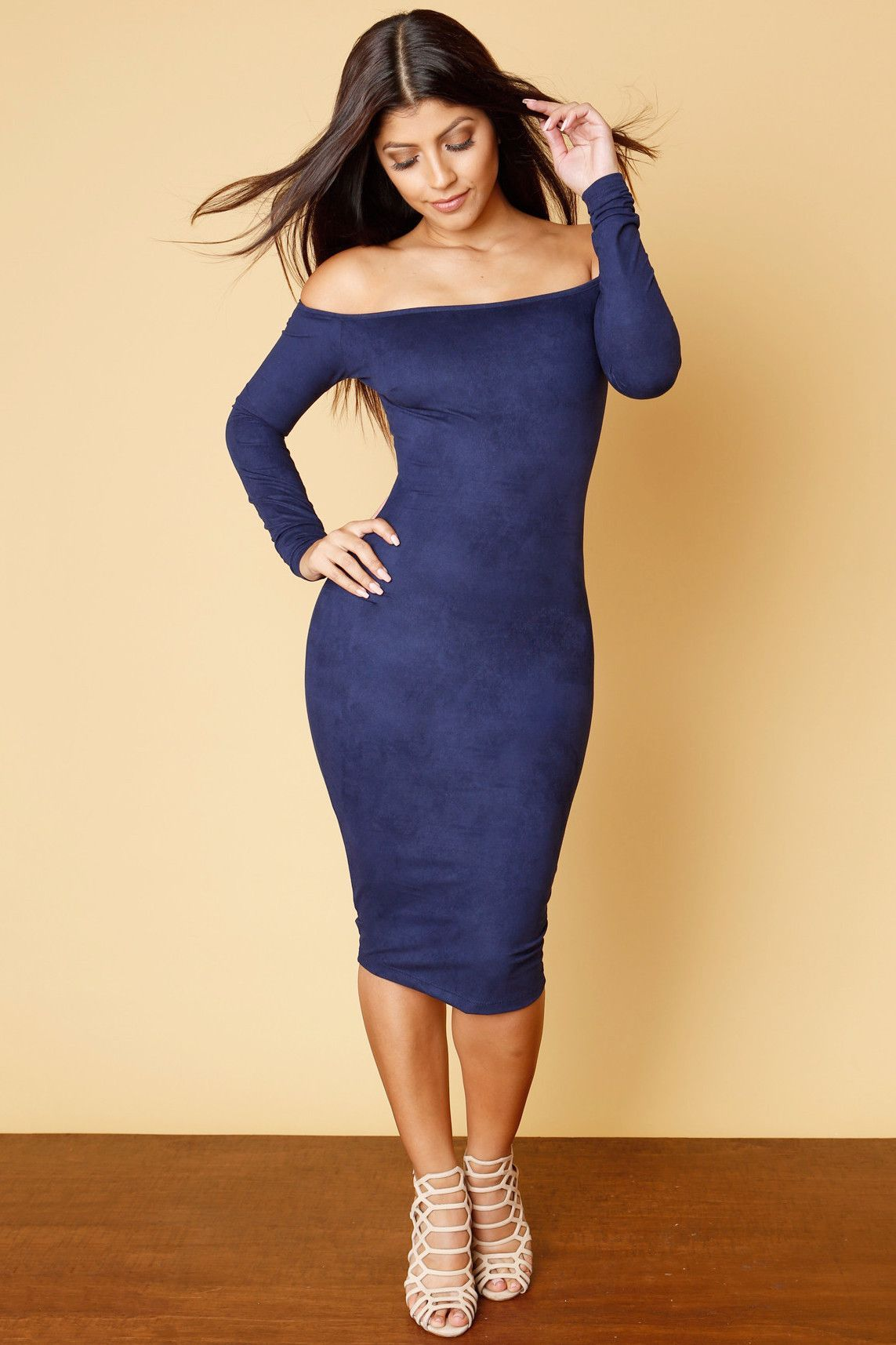 Lace dress styles for funeral  Everything I Said Suede Navy Dress  my swag  Pinterest  Navy