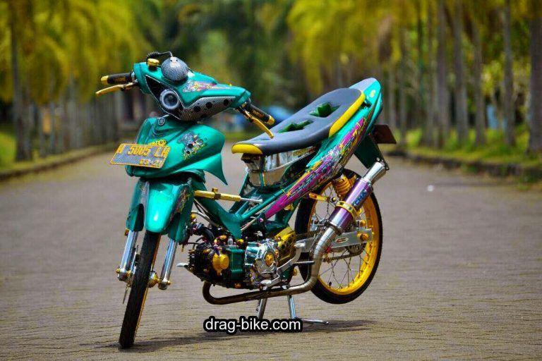 Modifikasi Motor Jupiter Z Street Racing Gambar Karya Seni 3d