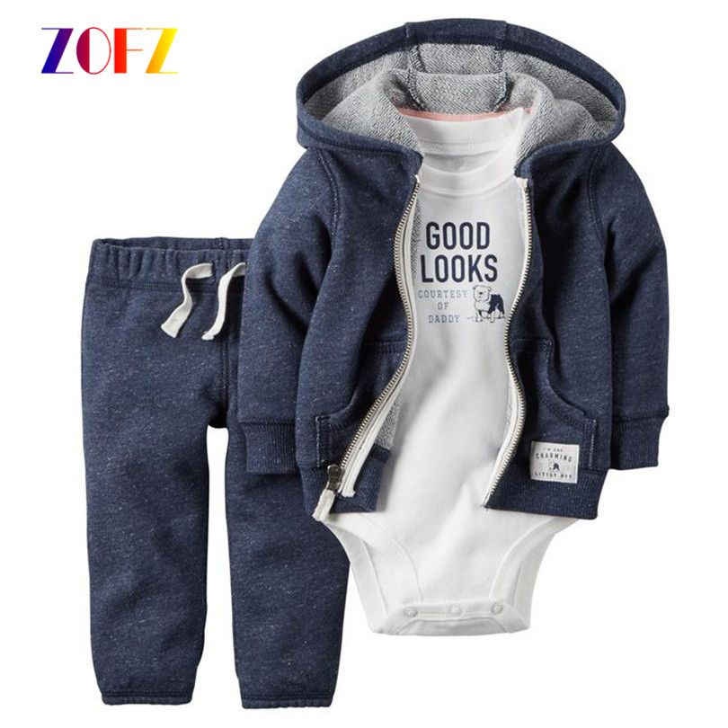 304859f53936 ZOFZ cartoon new born baby romper set costume for boy Clothes Hooded ...