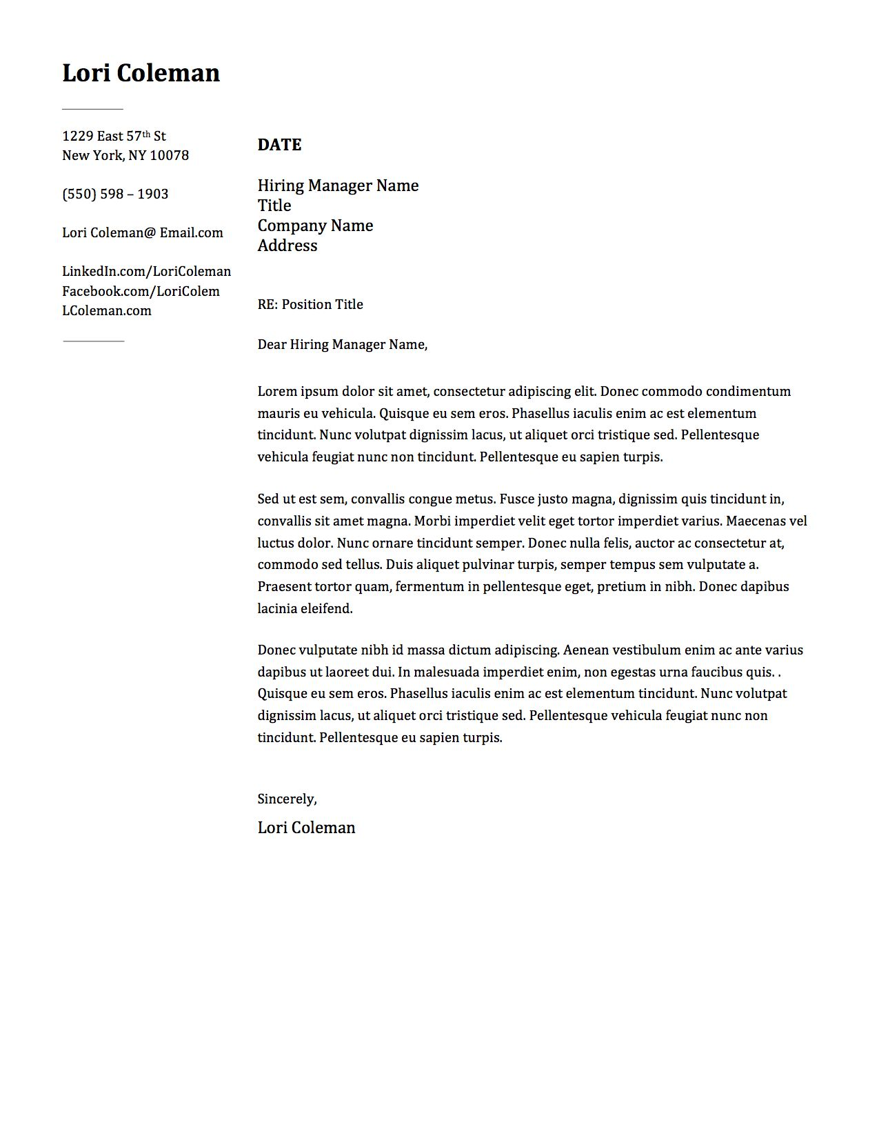 Professional Resume Design Word Template with Cover Letter ...