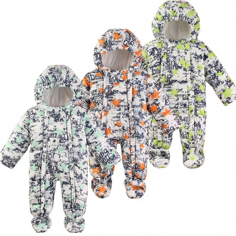 8edbf66563f4 Baby Snowsuit Winter Newborn Baby Rompers Warm Jumpsuit Baby Snow ...