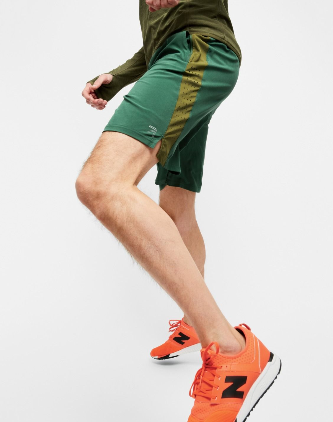 New Balance for J.Crew men's half-zip pullover, workout short and ...