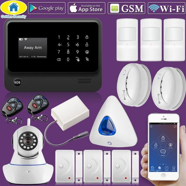 Golden Security G90B Plus WiFi 2G GSM Home Security Alarm Home