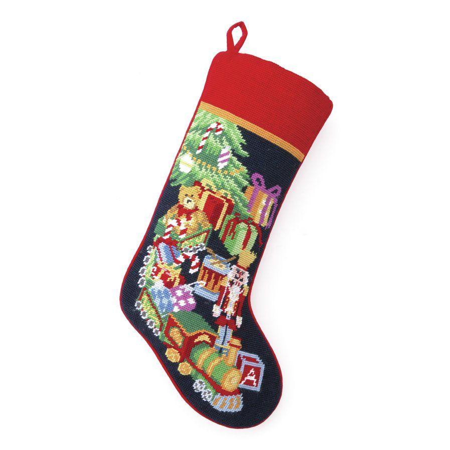 Toy Train Needlepoint Stocking Needlepoint stockings