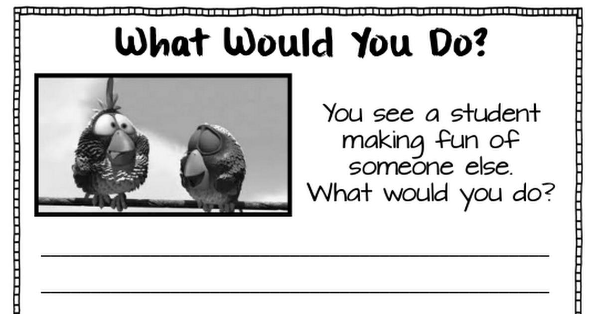 Bullying Activity Sheets.pdf Bullying activities, Social