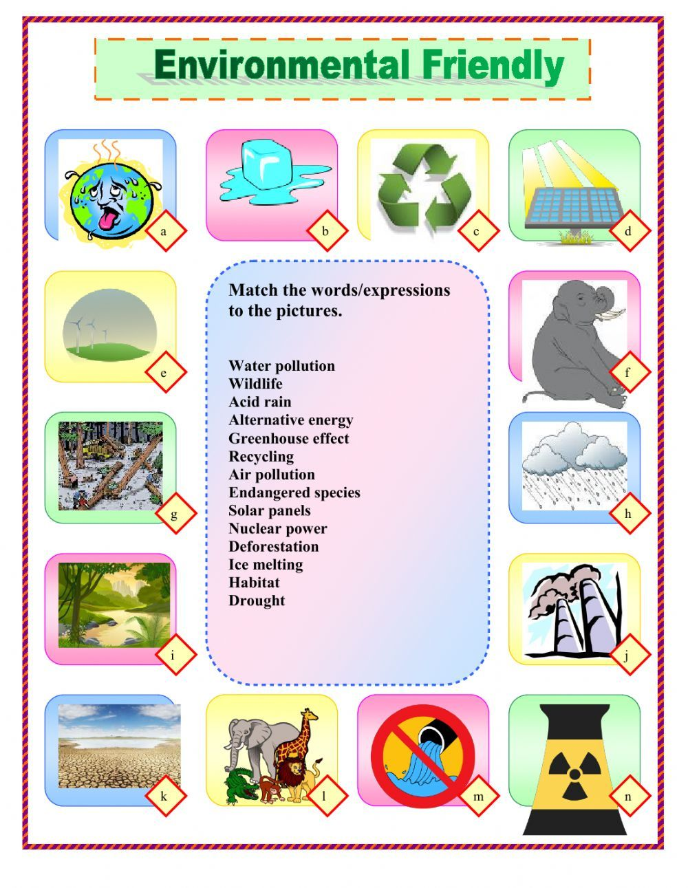 The Environment Interactive And Downloadable Worksheet You Can Do The Exercises Online Or Download T Environment English As A Second Language Esl Worksheets [ 1291 x 1000 Pixel ]