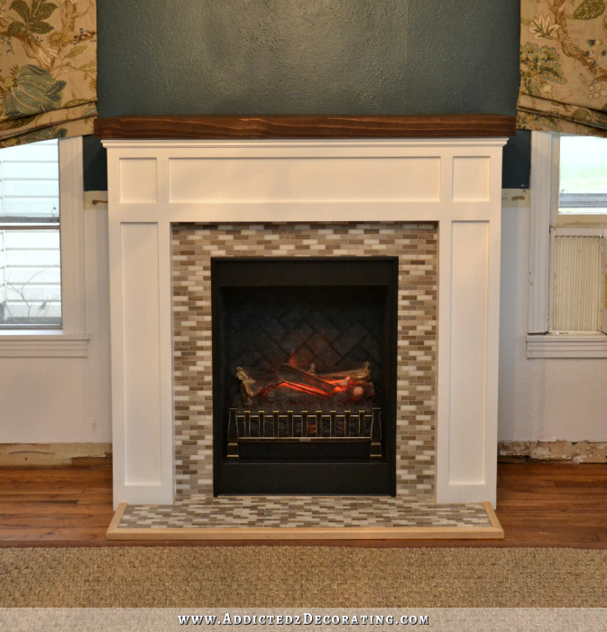 DIY Fireplace — FINISHED! - How To Transform A Store-bought Electric Fireplace Into A Striking