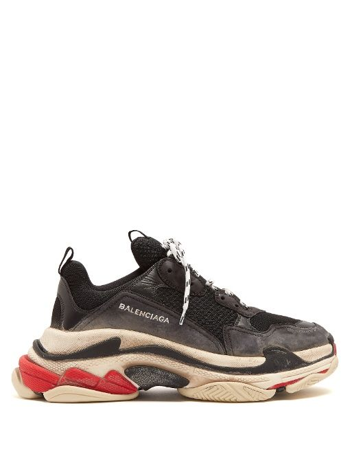 balenciaga triple s marron