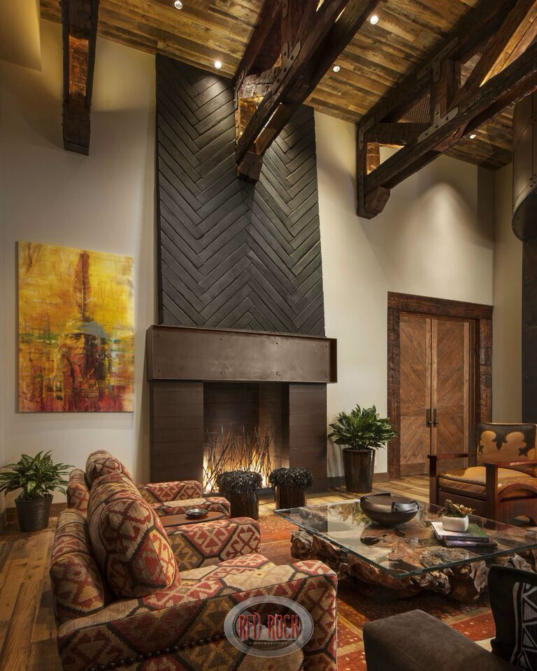 Montana Ranch House Embraces Its Striking River Valley: Rustic Home Interiors, Southwestern