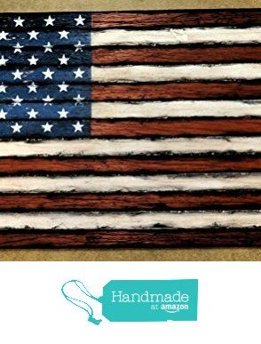 American Flag | Weathered Wood | One of a kind wooden vintage decor ...