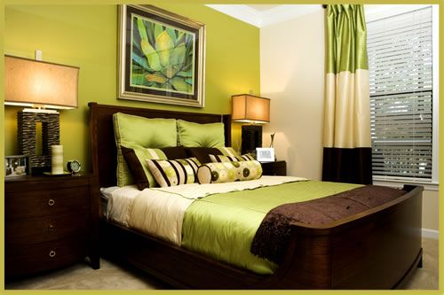 Green And Brown Bedroom Gorgeous Love The Bed  For The Home  Pinterest  Green Master Bedroom Inspiration Design