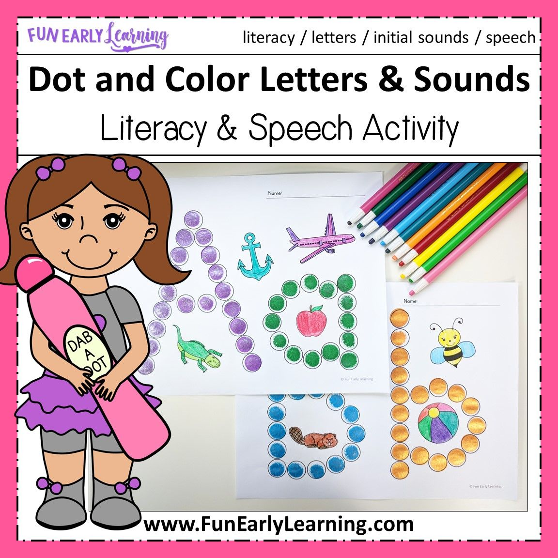 Dot And Colors Letters And Sounds Activity Fun Free Printable For