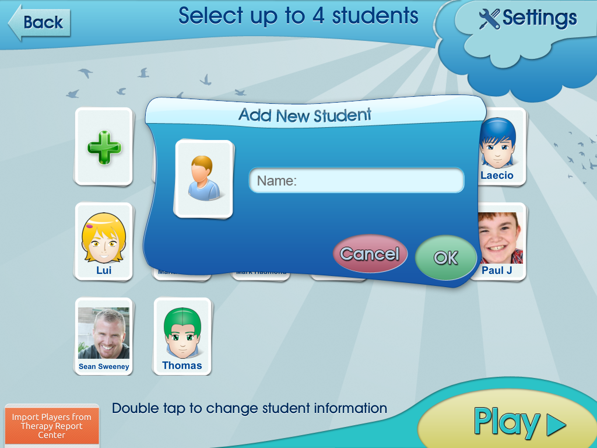 Adding Players On Categories Learning Center