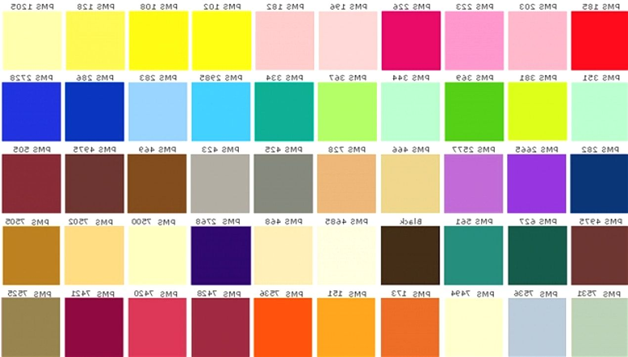 Paint chart asian colours