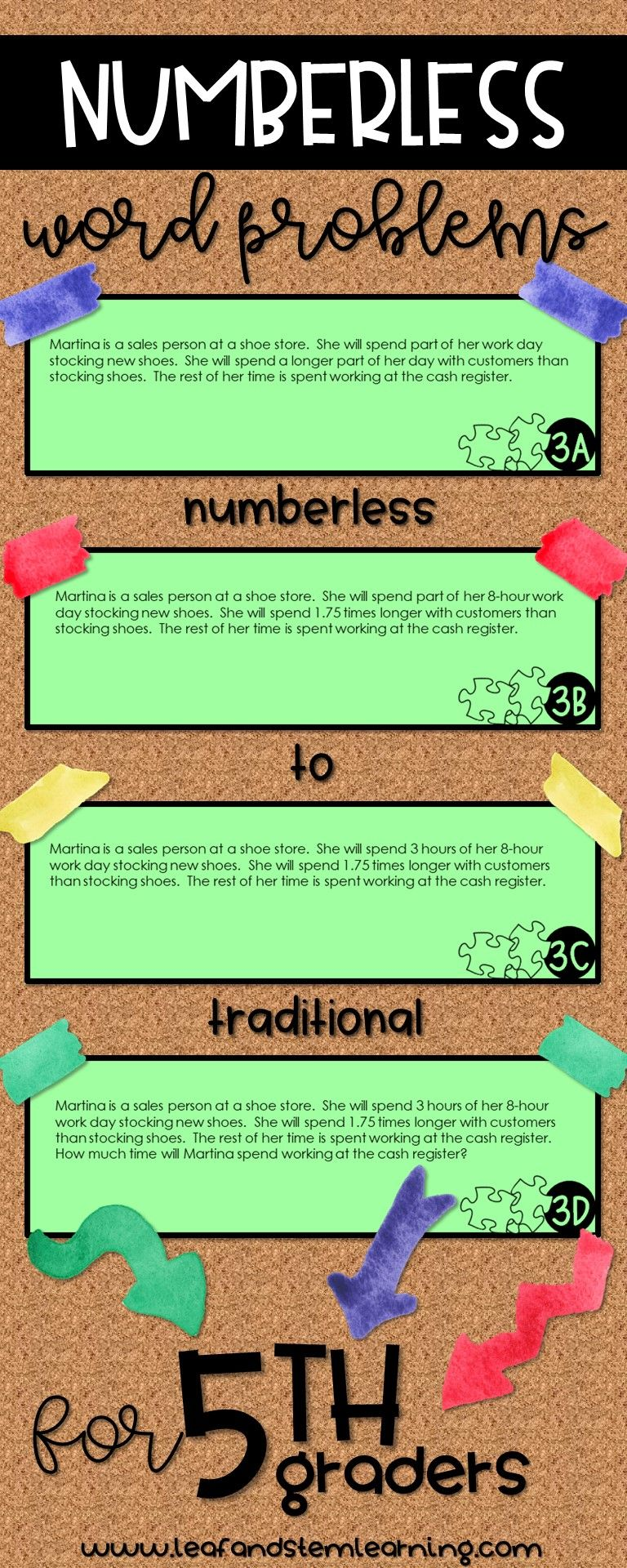 Numberless Word Problems Bundle For 5th Grade Math