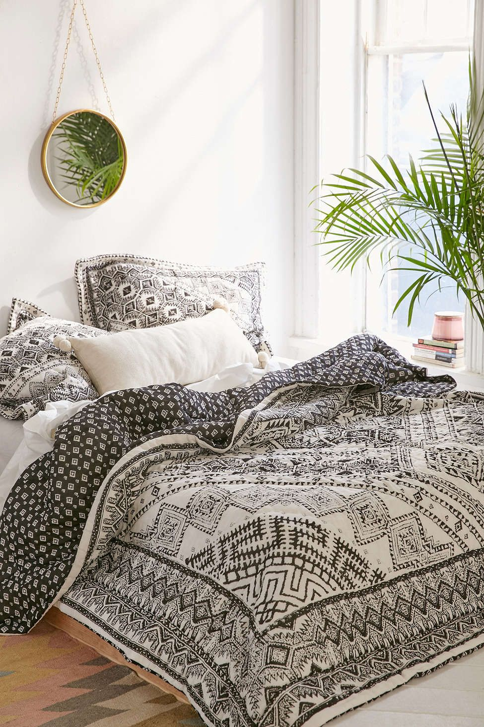 The Loser's Shopping Guide — Black and White Tribal Quilt | Room