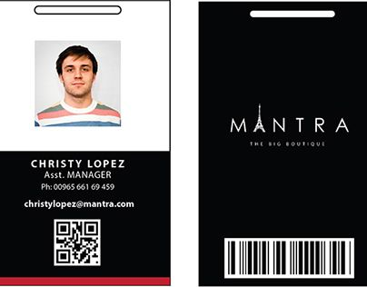 Simple Black N White  ID Card Idea    Card Templates