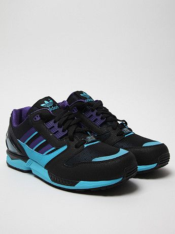 Adidas Originals Zx 8000 Torsion Running Shoe in black at oki-ni. Retro  colour