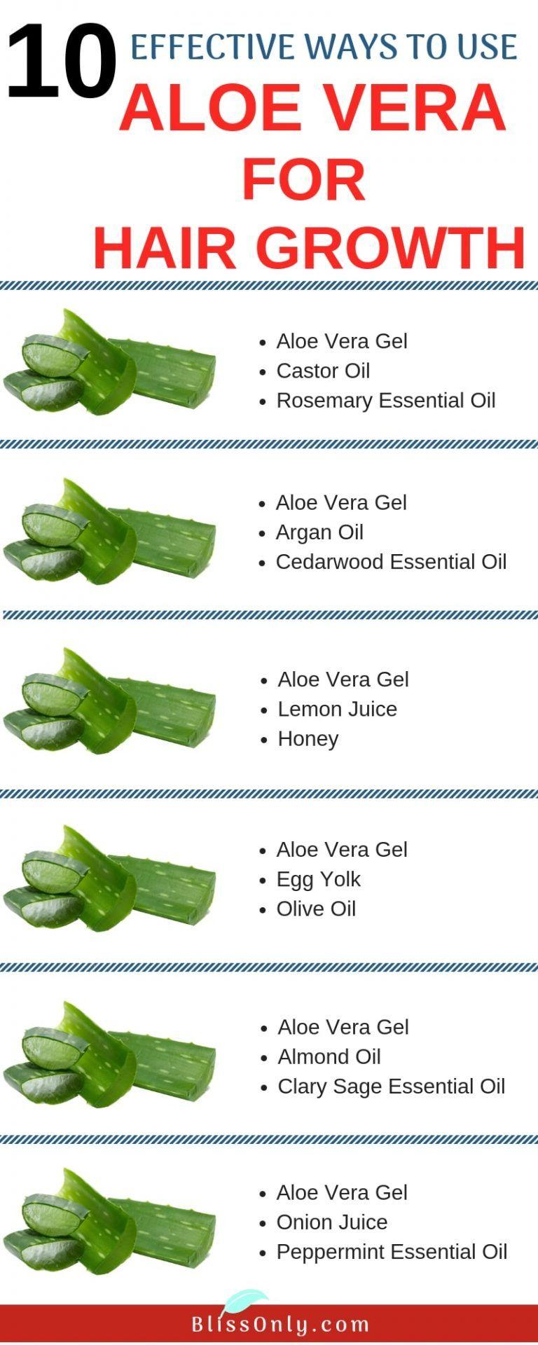10 Effective Ways To Use Aloe Vera For Hair Growth Aloe Vera For