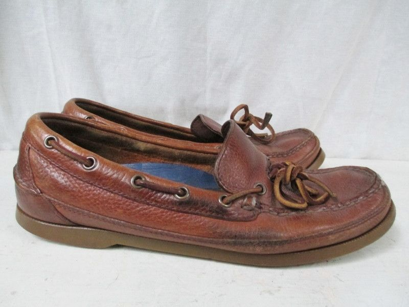 Womens SPERRY TOP SIDER Eye Leather Boat Shoe 8.5 Dock BROWN ...