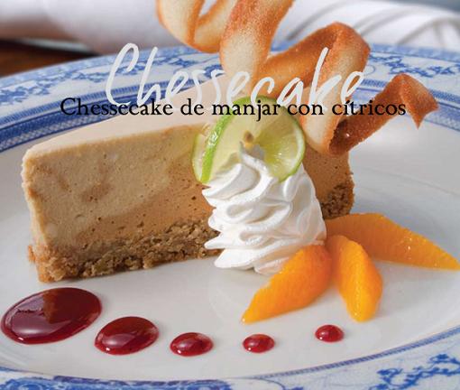 Cheesecake de manjar con citricos