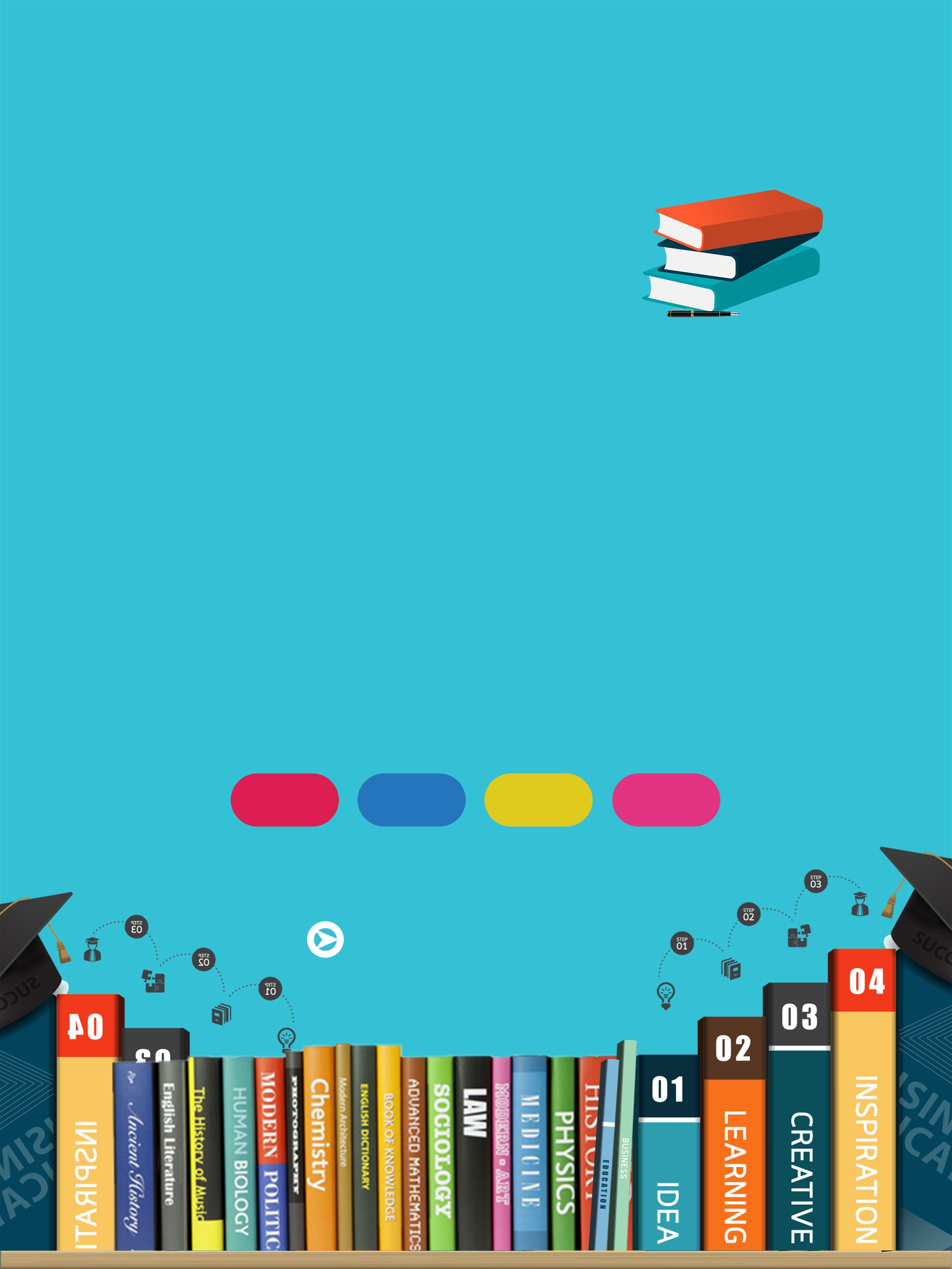 Latar Belakang Iklan Buku Yang Segar Dan Ringkas Buku Latar Belakang Alat Tulis