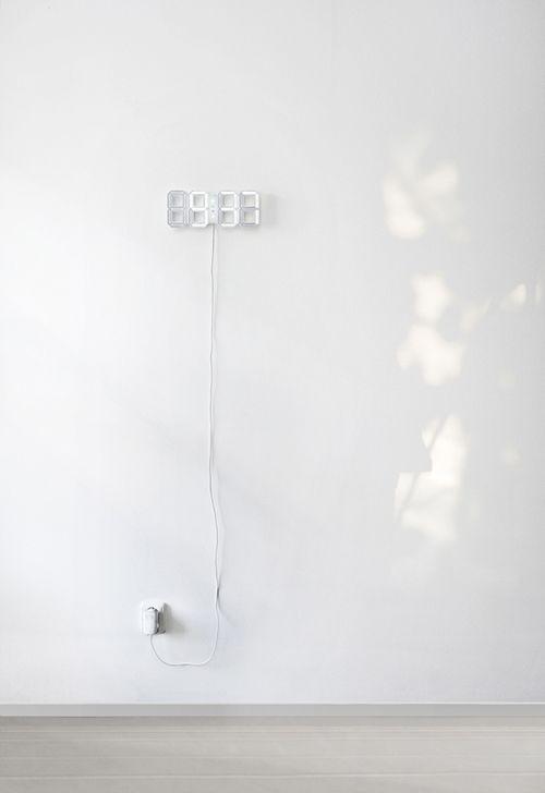 Tumblr White Clocks White Wall Clocks Led Clock