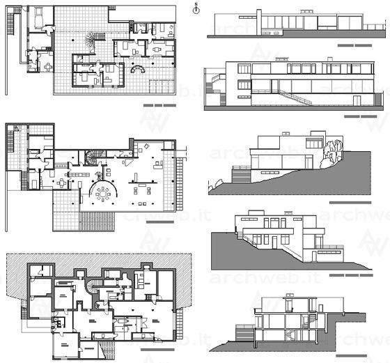 Casa tugendhat 1929 30 brno mies van der rohe for Haus musterplan