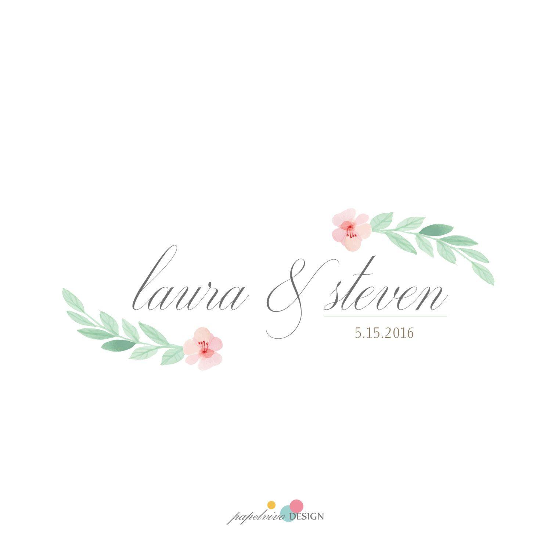 Diseño de logo, logo pareja, logo boda, logo prediseñado , logo moderno by papelvivodesign on Etsy