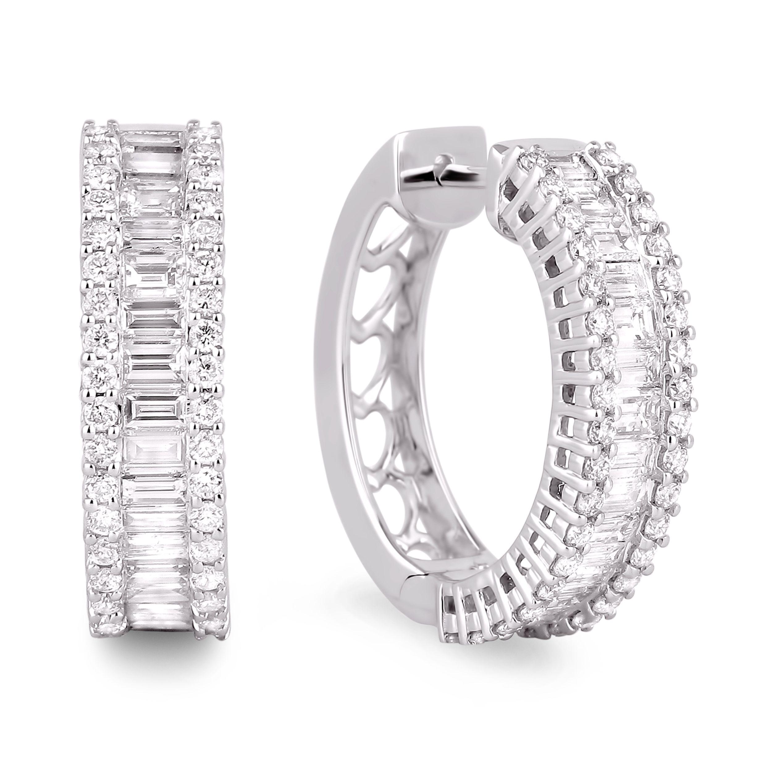Diamond Hoop Earrings Sge194