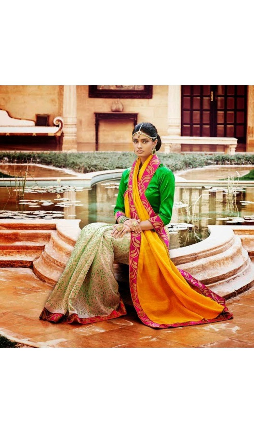 Yellow silk saree art prints style yellow bhagalpuri silk saree  things to wear