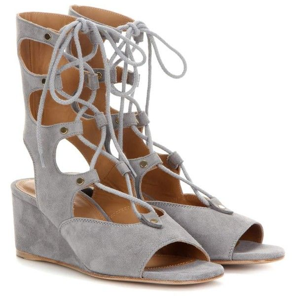f2f76b8e2a1 Chloé Foster Suede Gladiator Wedge Sandals (1