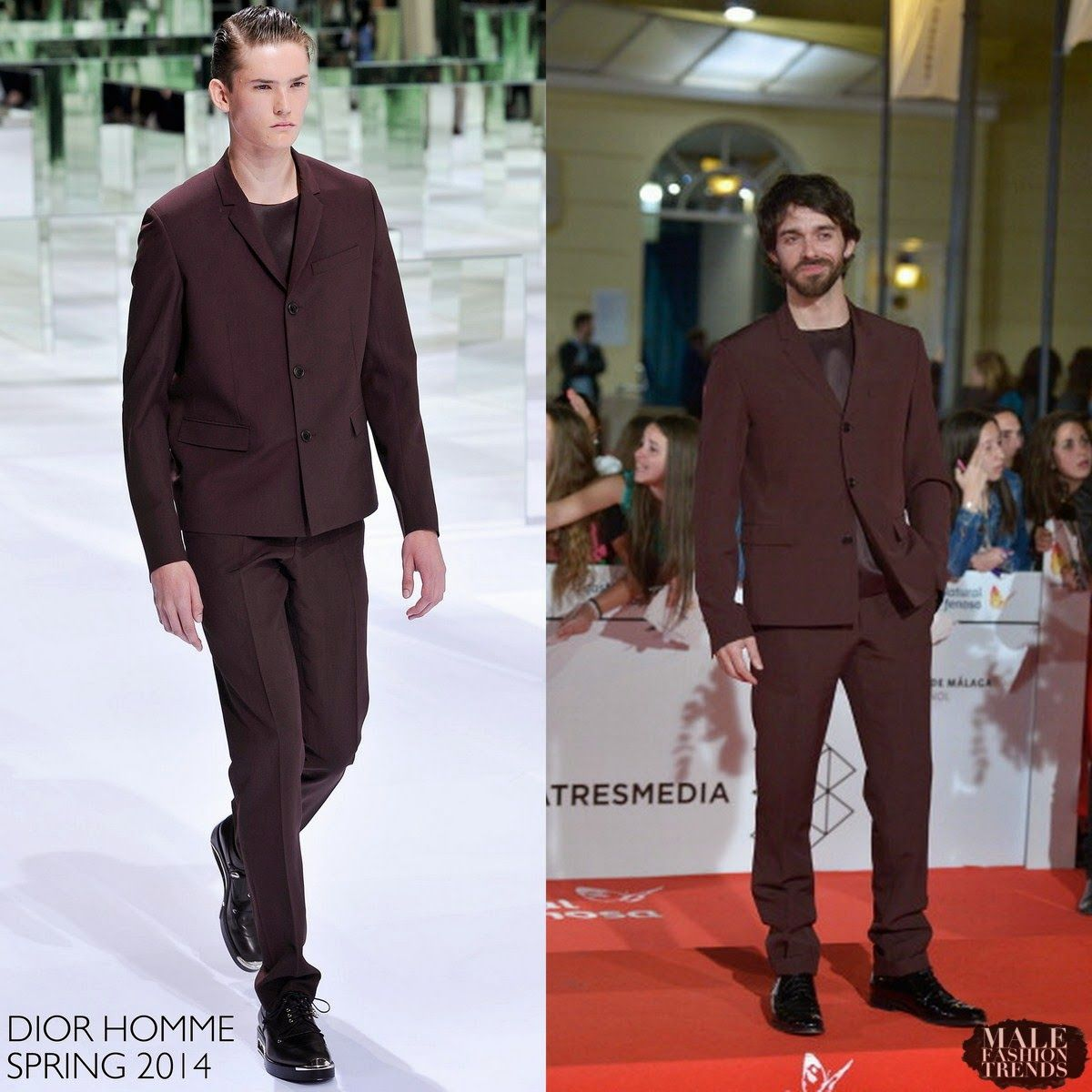 Male Fashion Trends: Alberto Amarilla en Dior Homme - 17th Malaga Film Festival Día 2