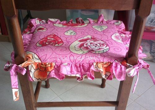come fare cuscini per sedie tutorial facile | CUCITO | Pinterest