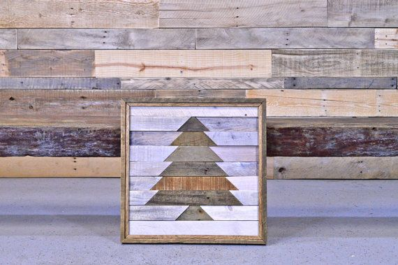 Reclaimed Wood Tree Wall Hanging.    What you see is what you get.  Hand crafted in our shop.  Ready to ship.    Made out of a variety of