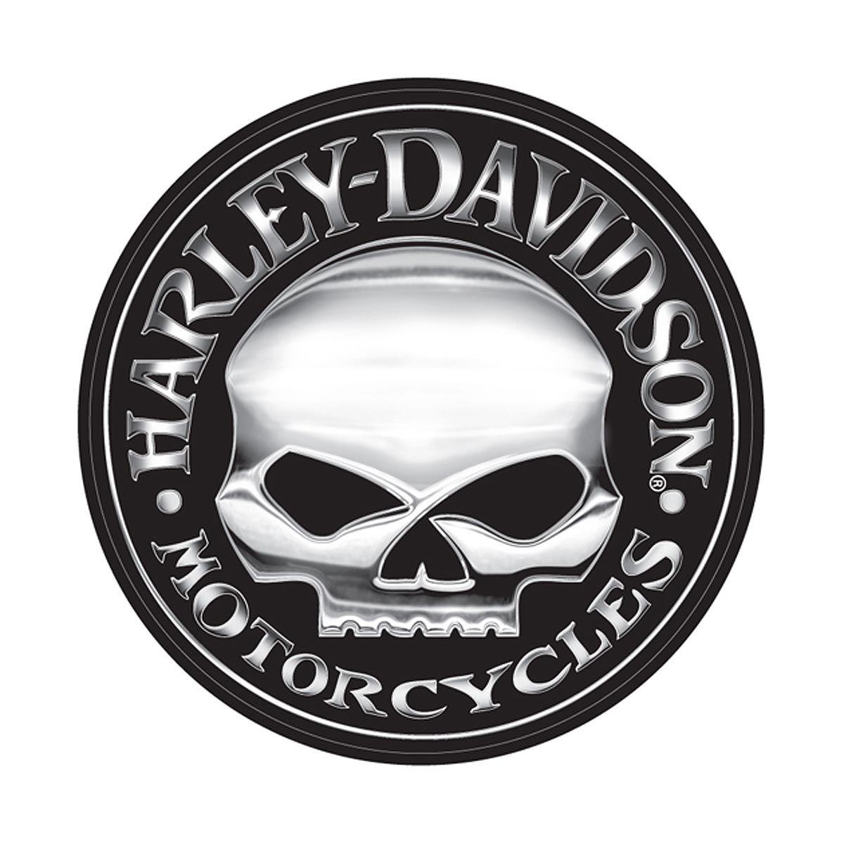 Willie G For Harley Davidson Skull Logo Com Imagens Adesivos