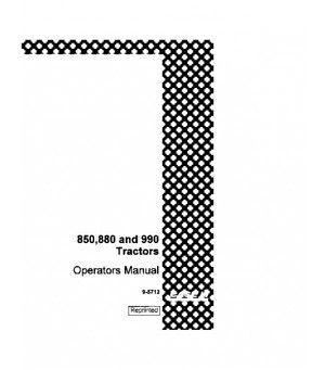 CASE IH DAVID BROWN 850 880 990 TRACTOR OPERATORS MANUAL