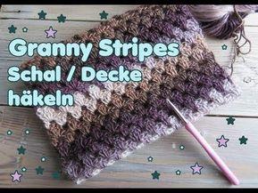 Granny Stripes Schal Häkeln Decke Häkeln Super Einfach Und Schnell