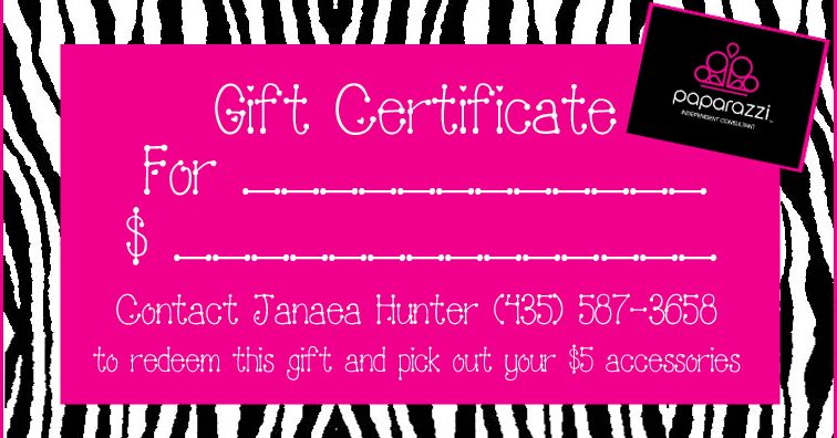 Pin By Kate On Paparazzi Jewelry Paparazzi Gifts Gift Certificate Template Gift Certificates
