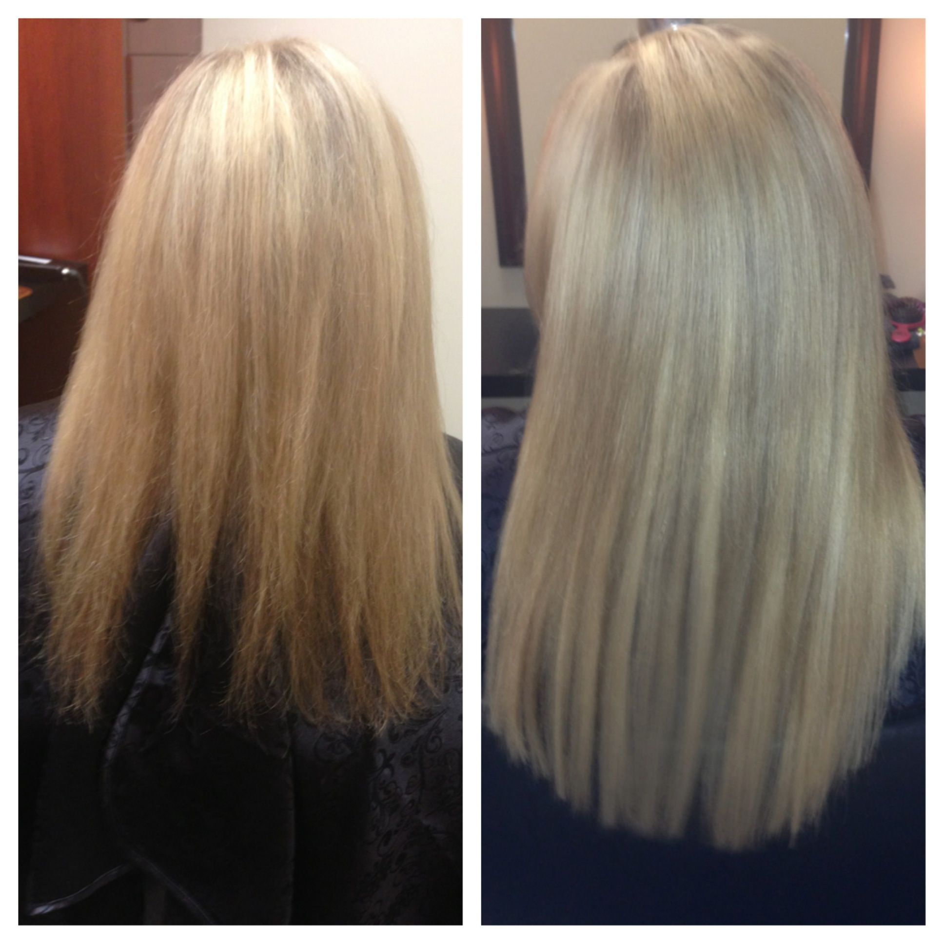 Before And After A Full Head Of Babe I Tip Hair Extensions Niki