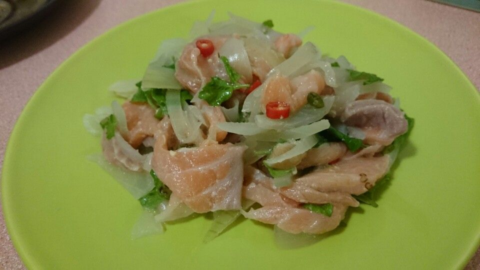 Spicy Salmon Salad  #salmon #salade #spicy