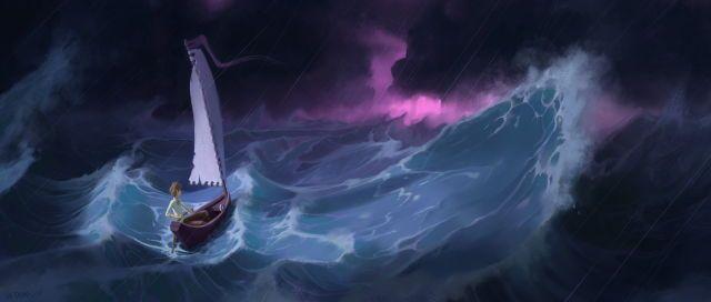 Brad Duke Art, Sailing Through the Storm