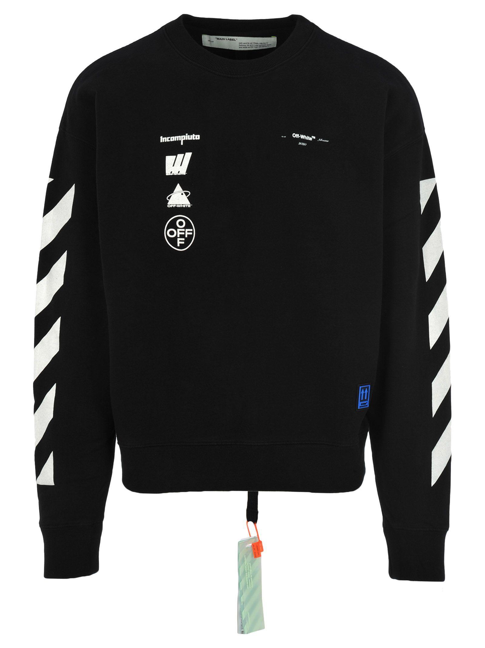Off White Off White Mariana De Silva Print Sweatshirt Off White Cloth Off White Clothing Black Outfit Men Leather Jacket Men Style [ 2136 x 1600 Pixel ]